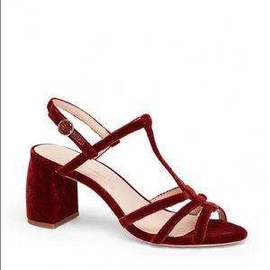 Loeffler Randall Elena Strappy Sandal Velvet Rust